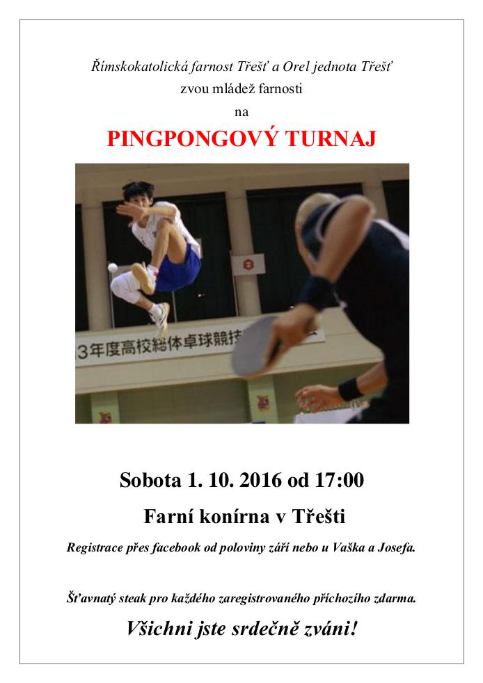 Pingpongový turnaj v konírně