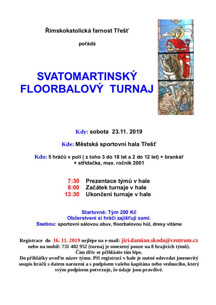 Svatomartinský floorbalový turnaj