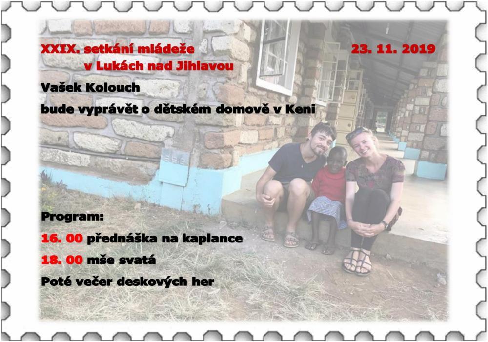 Děkanátní setkání mládeže v Lukách nad Jihlavou