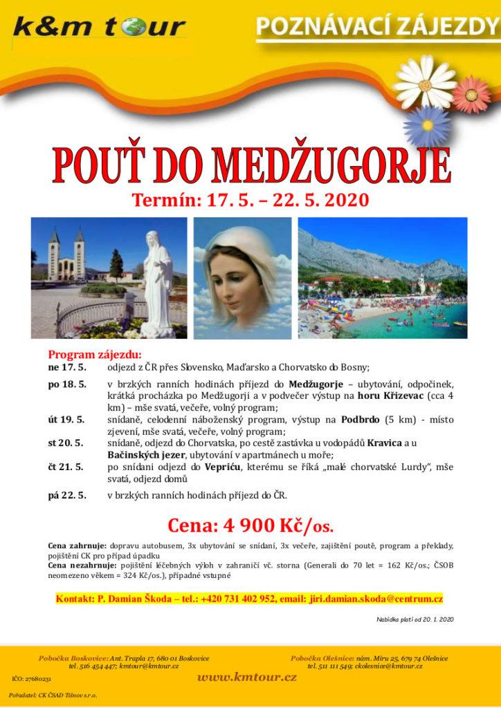 Pouť do Medžugorje